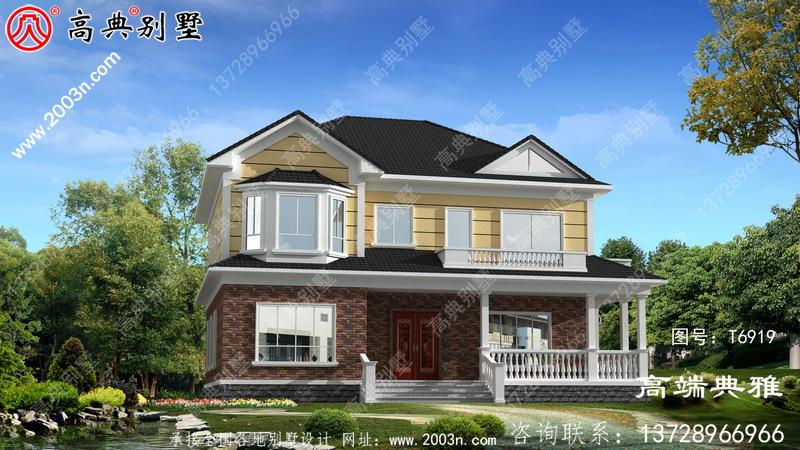 二层乡村小别墅设计图,最新款式的设计方案,样式新奇