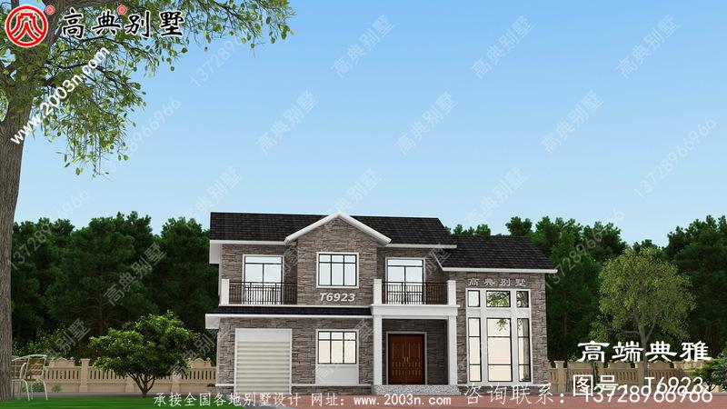 两层美式别墅,复式设计外观效果图
