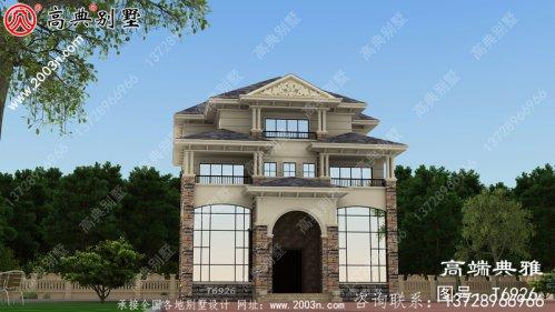 178平大户型房子四层房屋设计图,农村自建别墅