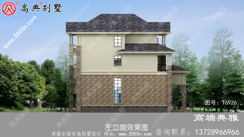 178平大户型房子四层房屋设计图,农村自建别墅强烈推荐
