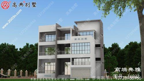 三层房屋设计图纸及照片,占地面