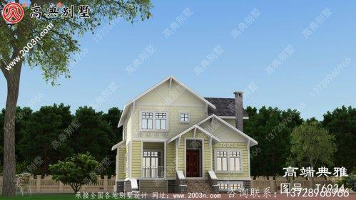 农村小型外来建筑设计及效果图、两层建筑设计