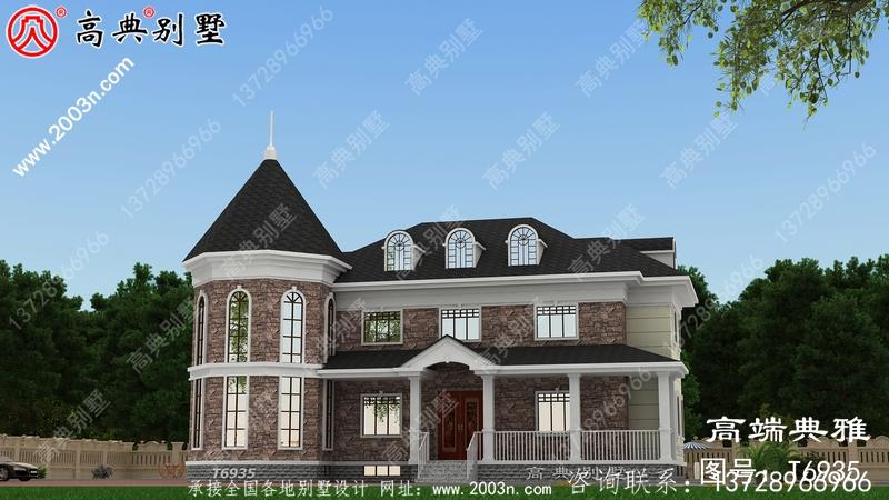 二层房屋设计图纸和照片,占地193平方米,布局合理