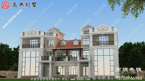 豪华欧式三层别墅的住宅设计图,占地面积在2