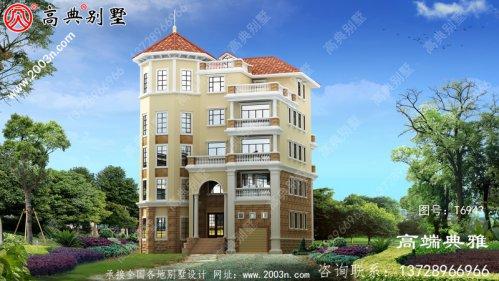 192平大户型五层住宅设计图,推荐