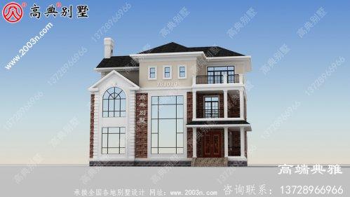 三楼农村小别墅设计图,占地面积159平方米