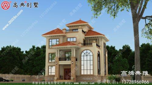 欧式四层新农村住宅设计,户型温馨美观