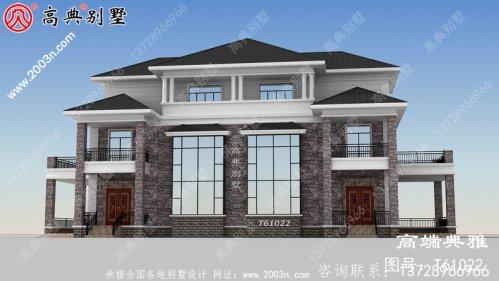乡村三层小楼房设计图,简洁明了空气,带复式