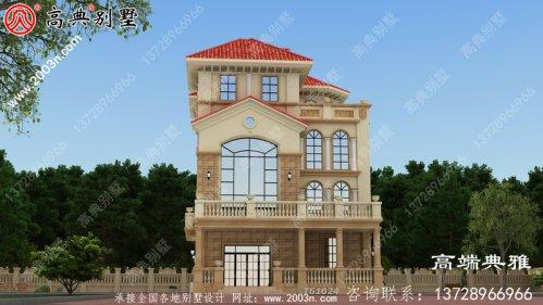 四层豪华的欧式自营住宅的形式,