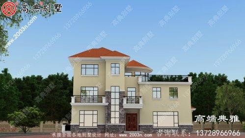 美丽的乡村三层小楼设计,简约大气,带露台
