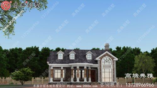 美式两层别墅设计和欧式效果图花费约30万元。