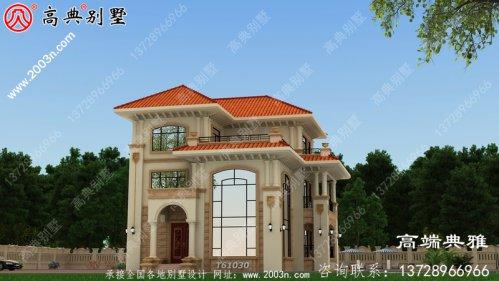 复式三层单户别墅设计纸带效果图,全套施工方