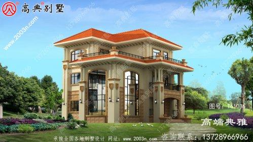 农村三层住宅设计图,外观照片,新型户型