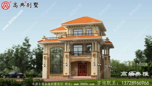 房屋类型好的三层农村建筑设计图