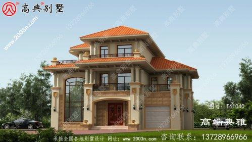 乡村欧式三层房屋设计图,含外型照片