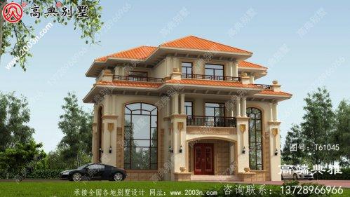 三层复式别墅设计方案,完整设计图+效果图