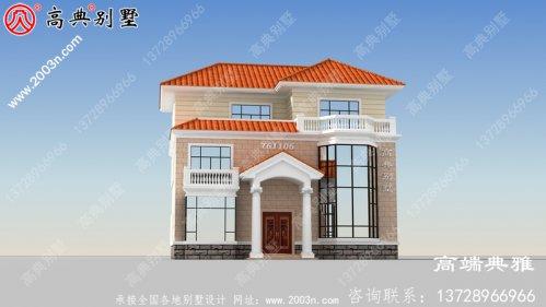新农村建设三层别墅设计图纸,含