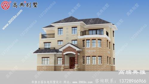 奢华大户型三层建造别墅设计图纸及设计效果图