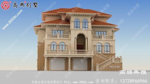 豪华三层欧式自建别墅设计图纸及