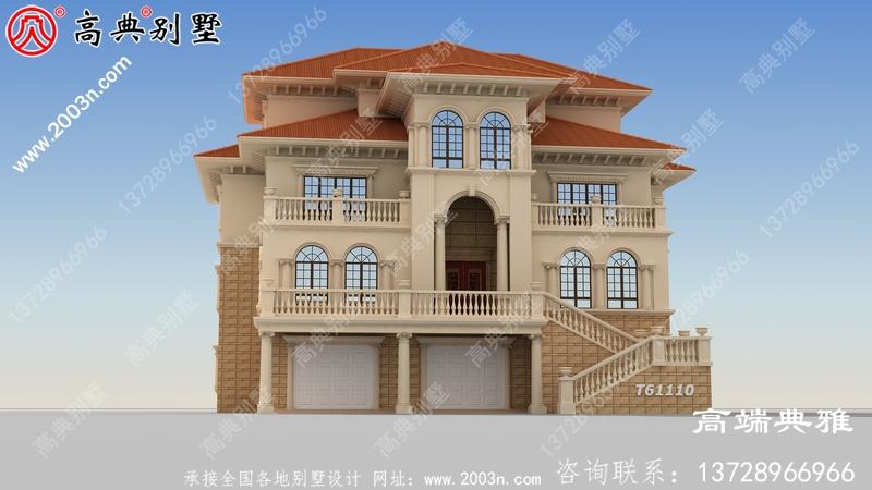 豪华三层欧式自建别墅设计图纸及效果图带车库