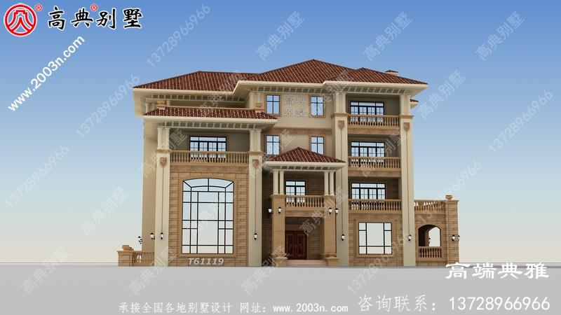 四层别墅设计图纸,客厅中空复式,豪华大气