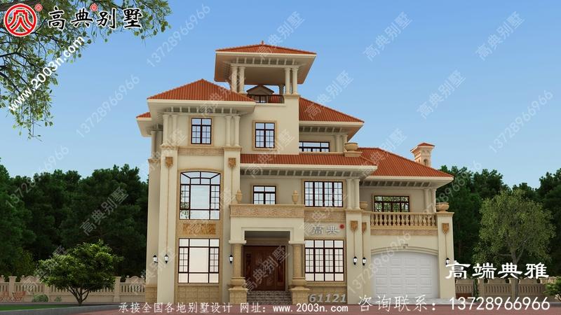 189平米乡村三层别墅CAD设计图及设计效果图