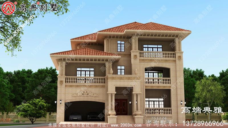 三层别墅房屋设计图,新农村住宅设计方案强烈推荐