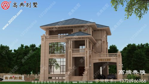 欧式别墅设计方案全集,推荐三层