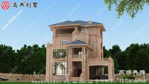 四层經典小型别墅房屋设计图纸,