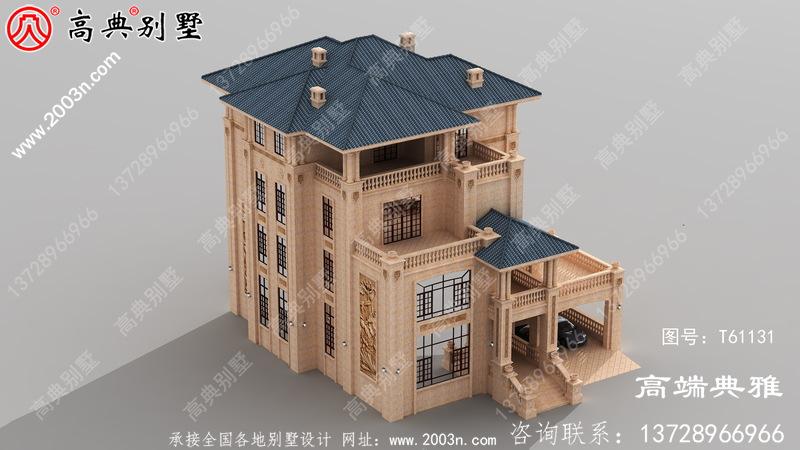 四层經典小型别墅房屋设计图纸,含设计效果图