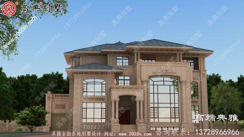 别墅设计方案大全,三楼别墅设计图推荐带车库