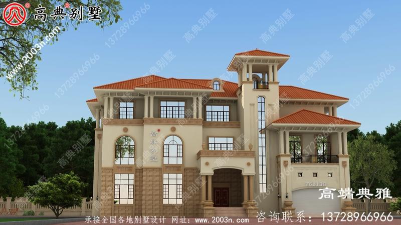 三层房子外型照片+整套工程施工设计图纸
