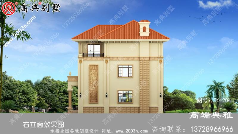 最新消息设计方案的三层农村别墅图纸,带阳台