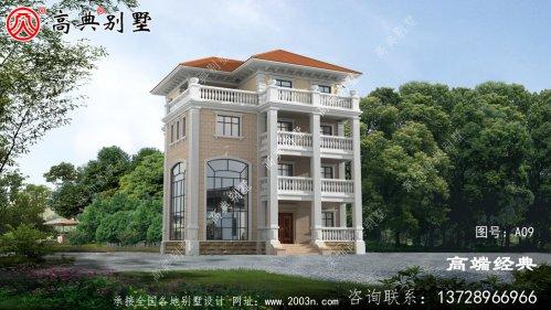 豪华法式四层别墅设计效果图,带多个阳台