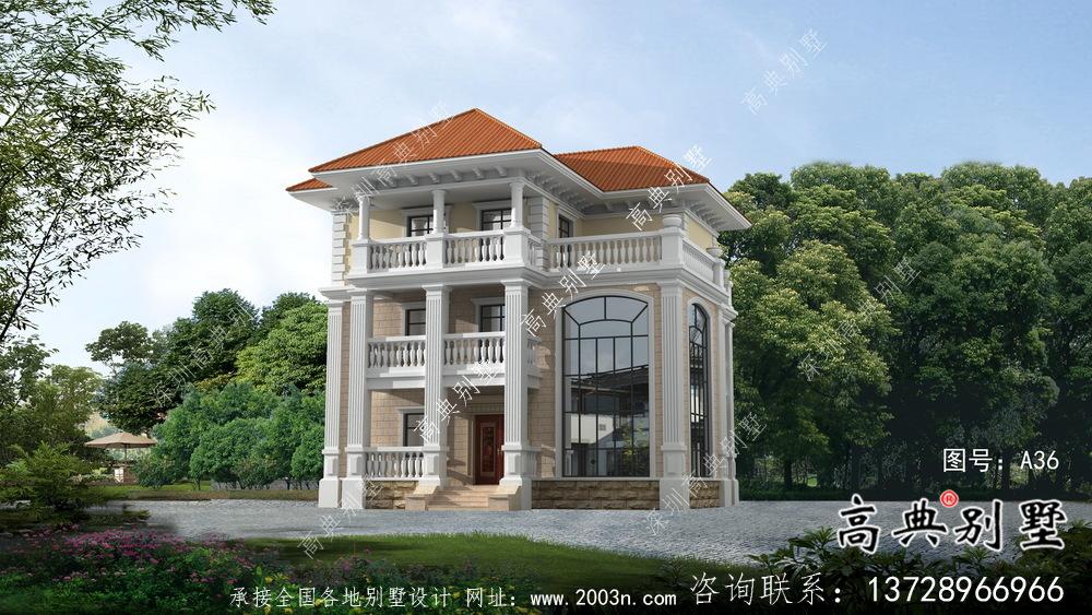 新型中式别墅设计图纸全套农村自建农村三层住宅施工图