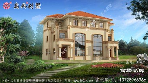 三层意大利风格建筑别墅设计图