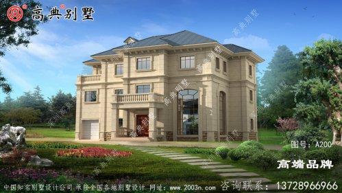 新型中式三层自建别墅设计