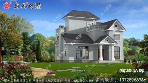 美式两层小别墅设计图