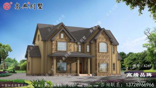 美式别墅二层别墅设计图