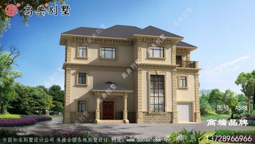 法式风格三层别墅效果图