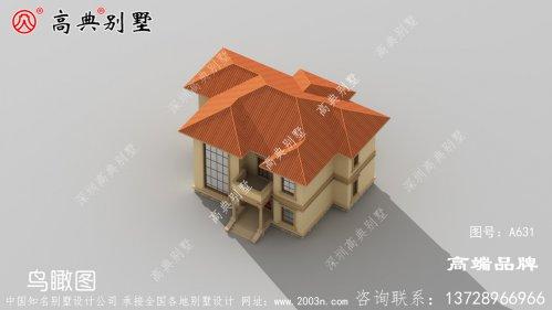 欧式风格二层楼别墅设计图
