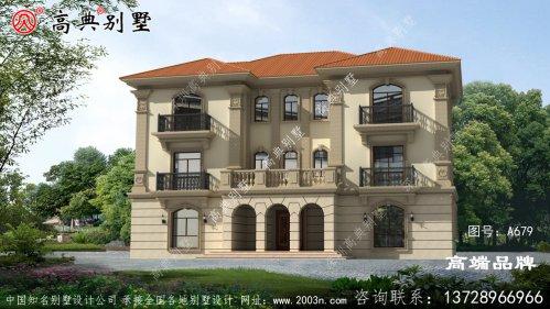 法式风格农村三层别墅设计图