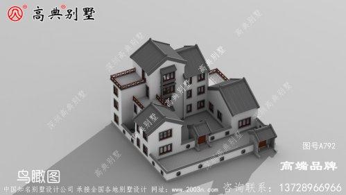 中式别墅外观效果图