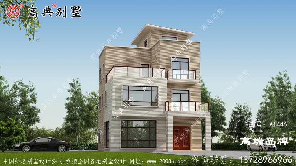 现代三层别墅图纸