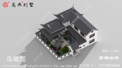 两层中式小别墅效果图