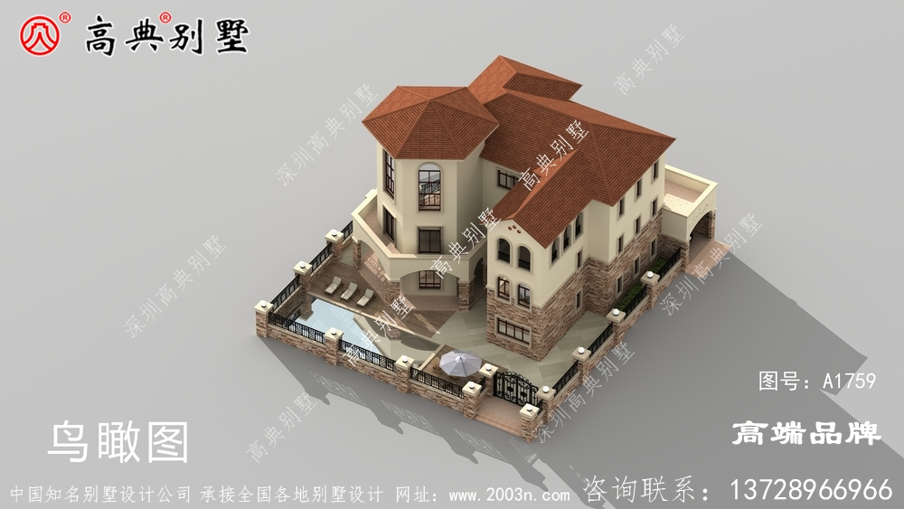 欧式独栋别墅图纸