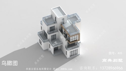 现代简约三层别墅设计图纸