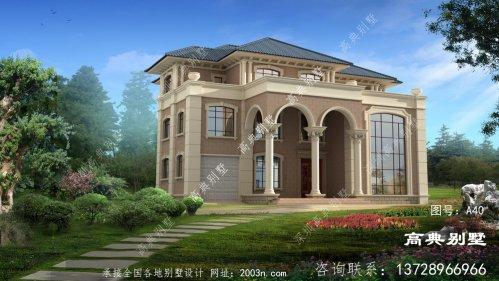 三层欧式豪华复式别墅效果图纸