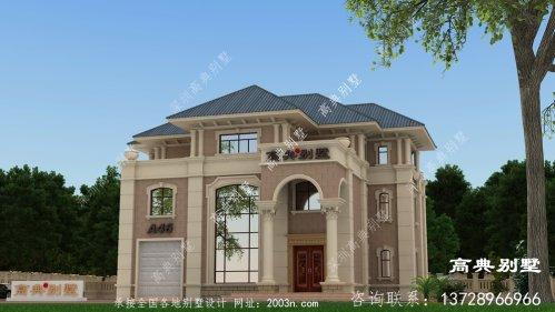 欧式三层复式别墅外观效果图