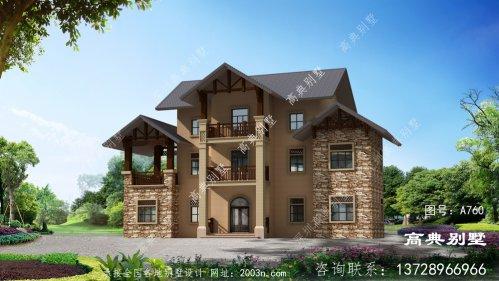 农村有三层别墅外观设计效果图